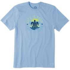 f02ce3e94 Shop Men s Slow Turtle Crusher Tee s at the official Life is Good® store.  Get free shipping on orders over  49. 10% of net profits go to help kids in  need.
