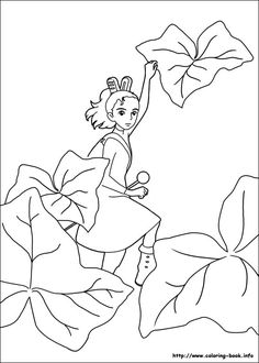 The Borrower Arrietty coloring picture