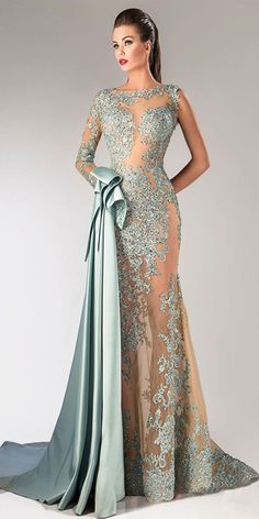 Glamorous Tulle & Taffeta Bateau Neckline Sheath Evening Dresses With Beaded Lace Appliques