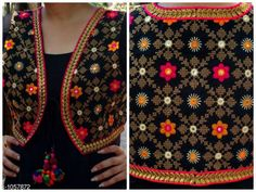 Ethnic Jackets & Shrugs Gorgeous Cotton Kutchi Work Ethnic Jacket  *Fabric* Cotton  *Sleeves* Sleeves Are Not Included  *Size* S- 36 in, M- 38 in, L- 40 in  *Length* Up To 22 in  *Type* Stitched  *Description* It Has 1 Piece Of Women's Ethnic Jacket  *Work* Kutchi Work  *Sizes Available* S, M, L *   Catalog Rating: ★4.1 (769)  Catalog Name: Hrishita Gorgeous Cotton Kutchi Work Ethnic Jackets Vol 6 CatalogID_129052 C74-SC1008 Code: 483-1057872-