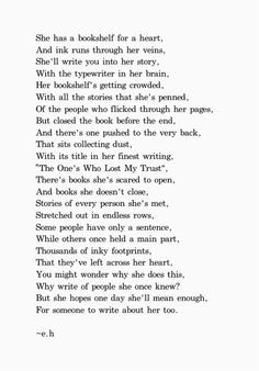 I didn't write...incredibly talented insightful young girl...check out thepoeticunderground