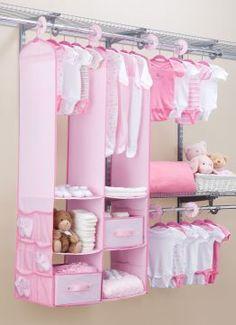 Walfront Baby Nursery Closet Organizer, 24 PCS Children Kids Organizer and Storage Shelving units for Closets Baby Clothes Hangers, Baby Clothes Storage, Baby Storage, Nursery Closet Organization, Nursery Storage, Baby Nursery Closet, Baby Bedroom, Baby Closets, Baby Girl Closet