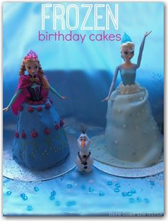 How to make Disney Frozen birthday cakes at home - great if you want a simple method but still want the cakes to look stunning.