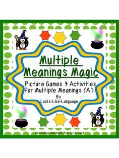 Multiple Meanings Magic Picture Games and Activities