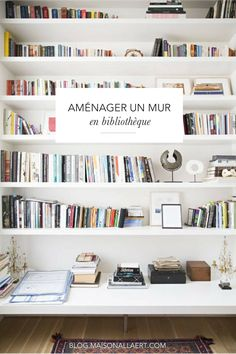The case for wall-mounted shelves. Small Space Secrets: Swap Your Bookcases for Wall Mounted Shelving Secret Walls, Book Wall, Home Libraries, Wall Mounted Shelves, Ikea Book Shelves, Corner Shelves, Large Wall Shelves, Corner Wall, Built In Shelves