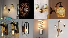 suspended wall light designs Wall Hanging Lights, Wall Decor Design, Dream Wall, Candle Sconces, Lighting Design, Candles, Home Decor, Light Design, Decoration Home