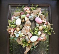 Pretty Easter door hanger