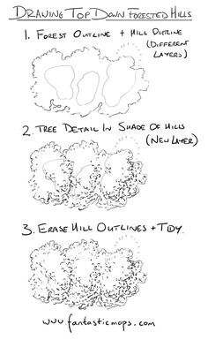 How to draw forested hills on fantasy maps