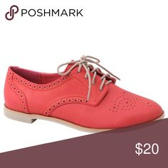 Lace Up Oxfords Cute and comfortable. Versatile and on trend. The color pops and is easy to wear in spring, summer, fall, or mild weather in any season. Shoes Flats & Loafers