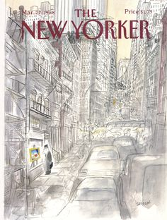 """The New Yorker - Monday, March 21, 1988 - Issue # 3292 - Vol. 64 - N° 5 - Cover by : """"Sempé"""" - Jean-Jacques Sempé"""