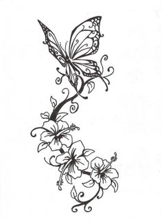 Butterfly With Flower Tattoo Designs 55 Butterfly Flower Tattoos
