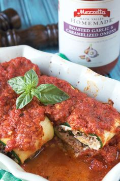 Paleo Lasagna Rolls |  *Sara's fav -- use traditional cottage cheese mix*