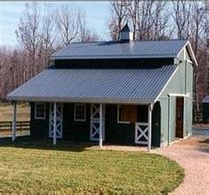 Awesome Picture of Small Horse Barns Designs - Fabulous . Horse Shelter, Horse Stables, Horse Farms, Dream Stables, Small Horse Barns, Horse Barn Designs, Barn Stalls, Horse Barn Plans, Barns Sheds