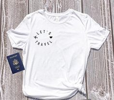 New Arrive Casual Tumnblr Hipster Tee Let's Travel T-Shirt Traveling Heart Gift Tops Adventure Shirt Wanderlust Outfit tshirt – Vacations Travel Shirts, Vacation Shirts, Tumblr T Shirt, Slogan Tops, Grey Outfit, Cute Woman, Shirts For Girls, Tees, Casual