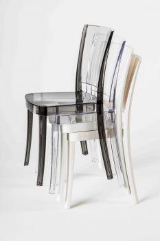 Chaise Transparente Polycarbonate LUCIENNE - Neutre
