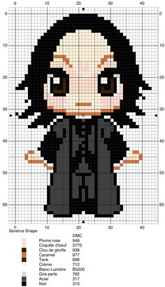Severus Snape - Harry Potter pattern