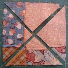 9 patch disappearing quilt block with a double twist. kind of fun to see how it turns out!