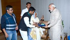 Narendra Modi meets wife of deceased Param Vir Chakra awardee