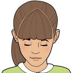Comb from your chosen starting point on top of head to outside of each eyebrow. (Tip: Start narrow; you can always make bangs wider.) Once this hair is sectioned, clip rest of hair back.