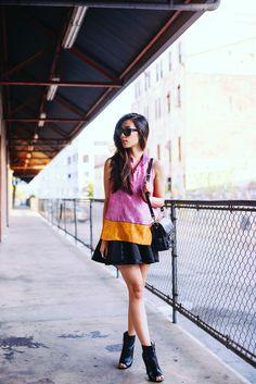 loving this colourblock effect! #fashion #fashiontrends #womensfashion