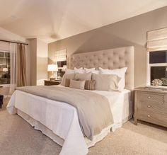 Top 100 Neutral Bedroom Ideas for couples master bedroom . - Top 100 Neutral Bedroom Ideas for couples master bedroom . Master Bedroom Design, Home Decor Bedroom, Master Bedrooms, Bedroom Ideas Master For Couples, Modern Bedroom, Diy Bedroom, Dream Bedroom, Beige Bedrooms, Calm Bedroom