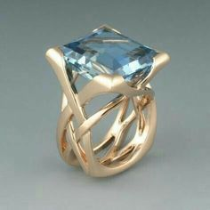 Check this sapphire unique engagement ring set from Camellia Jewelry. Scrupulously handmade in fine detail, it is a unique two tone gold ring set that will show her how much you care without breaking the bank. Aquamarine Jewelry, Diamond Jewelry, Silver Jewelry, Vintage Jewelry, Jewelry Necklaces, Fine Jewelry, Silver Ring, Vintage Rings, Jewelry Logo