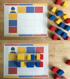 activities based on books for kids Play Based Learning, Learning Through Play, Kids Learning, Montessori Math, In Kindergarten, Preschool Activities, Lego Basic, Busy Book, Lego Duplo