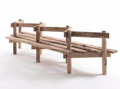 Briccola wood bench PALIZZATA - Riva 1920