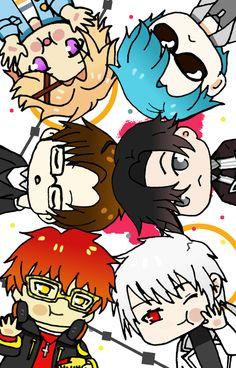 Mystic Messenger Unknown, Mystic Messenger Yoosung, Kawaii Wallpaper, Iphone Wallpaper, Anime Chibi, Kawaii Anime, Yandere Simulator, Mystique, Anime Life