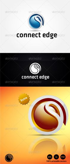 Connect Edge Logo Design Template Vector #logotype Download it here: http://graphicriver.net/item/connect-edge-logo/4399288?s_rank=1263?ref=nexion