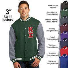 Fraternity Varsity Jacket - Twill on Front #fraternity #clothing #gogreek #somethinggreek #letterman