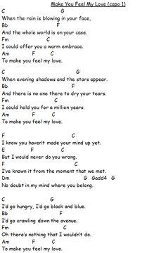 Make You Feel My Love, Bob Dylan, adell, guitar lesson video Guitar Acoustic Songs, Guitar Chords And Lyrics, Guitar Chords For Songs, Uke Songs, Piano Songs, Songs To Sing, Ukulele Songs Beginner, Guitar Songs For Beginners, Mandolin Songs