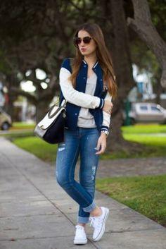 28 Ideas For Moda Casual Femenina Invierno Tenis Fall Outfits, Casual Outfits, Fashion Outfits, Moda Outfits, Paris Outfits, Fashion Fashion, Street Fashion, Fashion Ideas, Casual Chic
