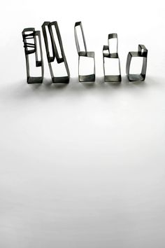 julia oberndoerfer rings and brooches, silver with rolled brush structure, blackened, 2008