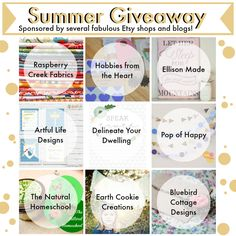 The Natural Homeschool: Summer Giveaway with The Life of Jennifer Dawn and her Sponsors
