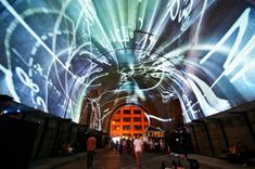 Projection on the Bridge - Immersive Surfaces - As Above, So Below