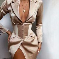 Blazer Outfits, Blazer Dress, Blazer Fashion, Sleevless Blazer, Coat Dress, Blazer Jacket, Elegant Dresses, Pretty Dresses, Sexy Dresses