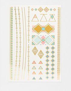 Image 1 - Orelia - Tatouages temporaires motifs géométriques et chaînes