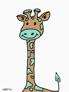 Baby giraffe. www.tobeme.com.pl
