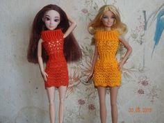 "Одежда для кукол крючком. Платье""Осенние краски"" - YouTube Crochet Video, Knit Crochet, Crochet Barbie Clothes, Doll Clothes, Knitting Videos, Sewing Toys, Barbie Dress, Crochet Fashion, Short Sleeve Dresses"