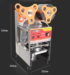 455.00$  Watch now - http://ali8d7.worldwells.pw/go.php?t=32613210822 - Free shipping Fully Automatic Plastic Cup sealing machine standard cup 9cm 9.5cm 455.00$