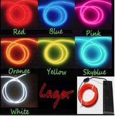 5M 3V Flexible Neon Light Glow EL Wire Rope tape Cable Strip LED Neon Lights Shoes Clothing Car waterproof led strip