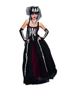 Dreamgirl Womens Ms. Bones Zombie Bride Costume Tag a friend who can pull this off! #Zombie #Halloween #Costume