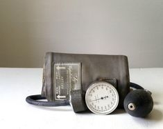 Vintage Tycos Blood Pressure Cuff . Sphygmomanometer . Vintage Medical Equipment . Medical Office Decor . Collectible