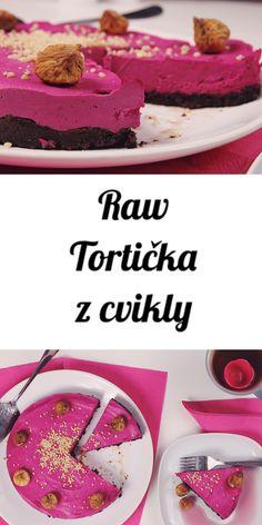 pink raw vegan beetroot cake with figs