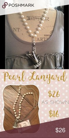 Pearls $ crown necklace or lanyard Crown & pearls Jewelry Necklaces