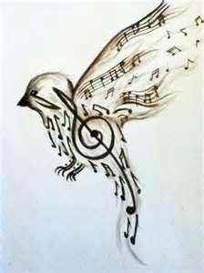 Bird  Music Tattoo Art