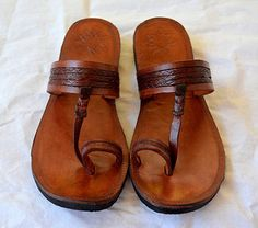 ec85debda303 Plain Moroccan Leather Sandals -Handmade