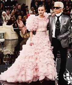 'A lot of people will think that working with Karl is intimidating as he is such an icon and presence and in a way I guess it is' @lilyrose_depp the actor model and Chanel muse tells us. 'I was pretty nervous in the beginning and pretty intimidated even though I've known him since I was eight years old. But I think once you're actually there working with him you realise hes really not as scary and intimidating as everyone thinks he is. He's honestly just the nicest guy. And he's so smart and…