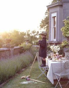 croquet and dining garden party